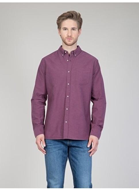 Colin's Uzun Kollu Gömlek Bordo